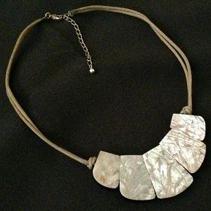 Jewelry - Beautiful Abalone Shell Fashion Statement Necklace